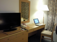 Working hard - it was a pleasant stay at the Crowne plaza
